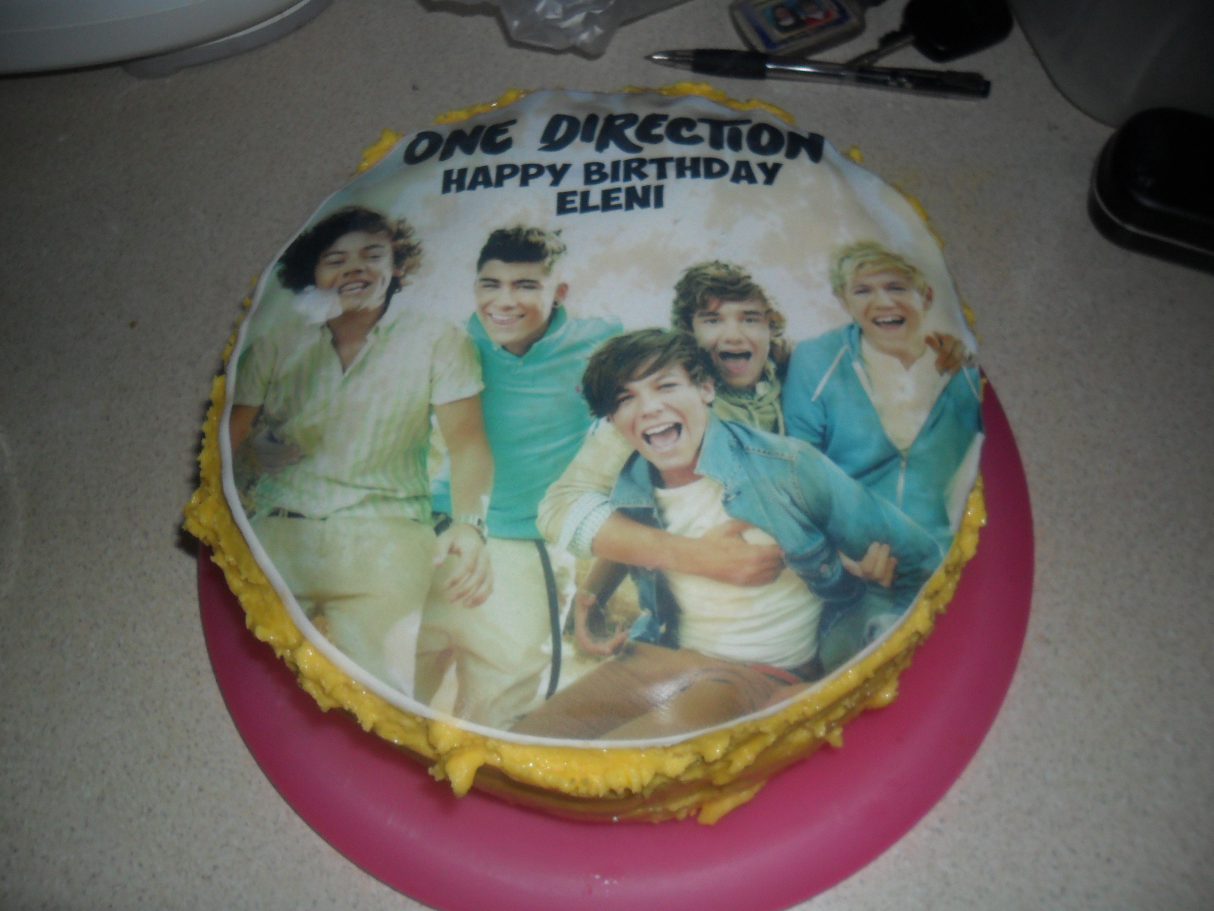 One Direction Cake not just greenfingers
