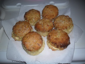 Cheese and Courgette Scones