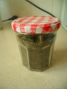 Home dried basil
