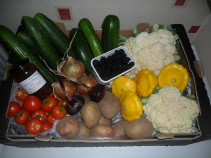 A Veg box given to my mother-in-law