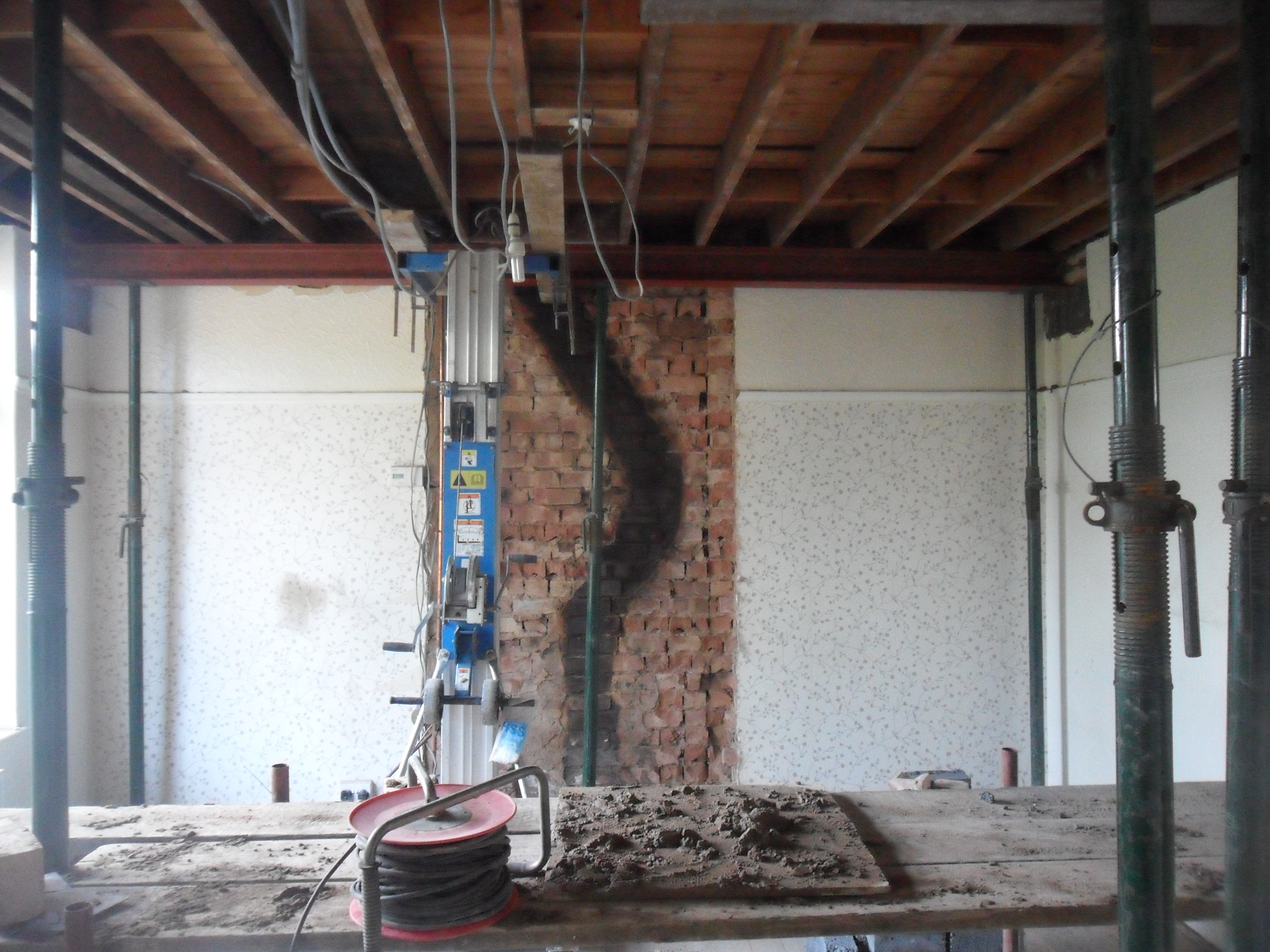 The backdoor was taken out and blocked up and the entrance to the old back  room door was blocked up too Creating a kitchen diner   not just greenfingers. Living Room Chimney Removal. Home Design Ideas