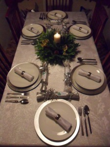 Last years Christmas dinner table
