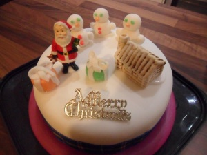 The Christmas cake my daughters decorated